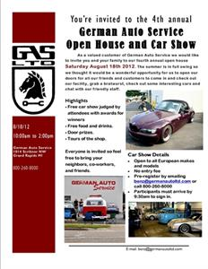Don't miss our annual Car Show and Open House August 17th!