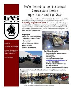Open House and Car Show 2014!